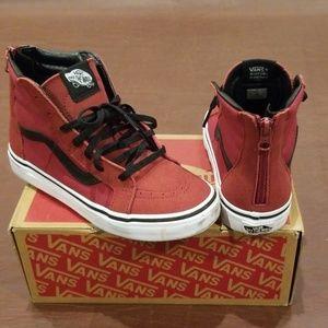 Vans SK8-Hi Tibetan Red Shoes in Size 4 Youth